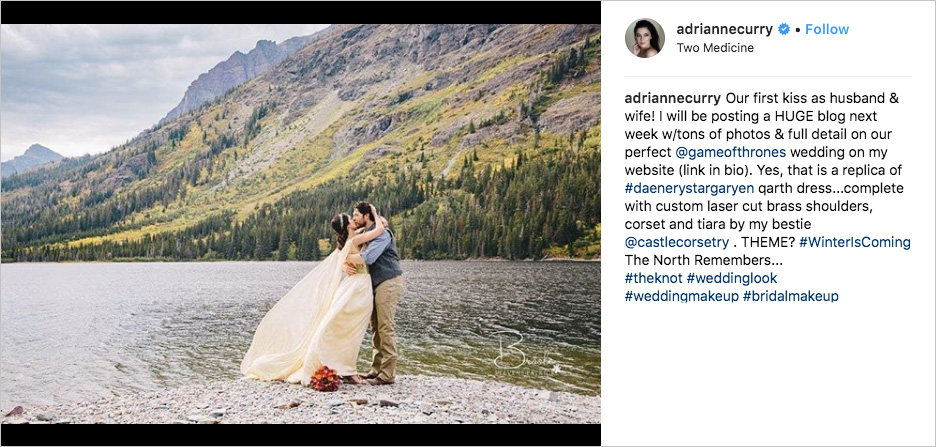 adrianne curry matthew rhodes elopement in montana, game of thrones westworld wedding