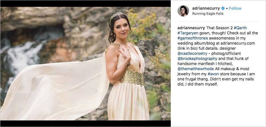 adrianne curry wedding dress inspired by game of thrones dany qarth dress