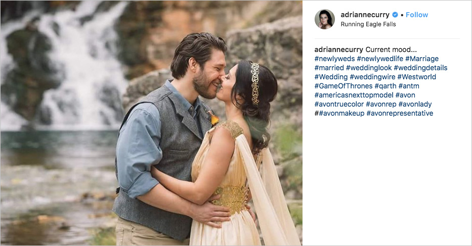 adrianne curry and matthew rhodes elopement in glacier national park inspired by game of thrones and westworld