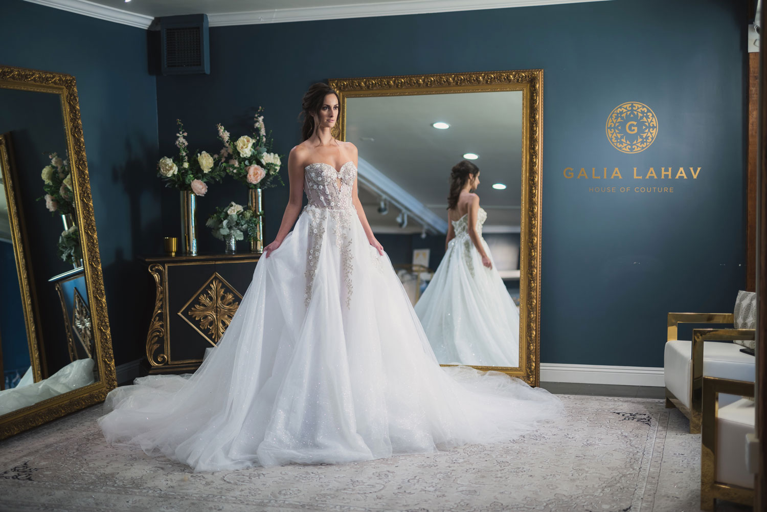 Galia Lahav Los Angeles flagship salon bridal salon wedding dresses couture gowns