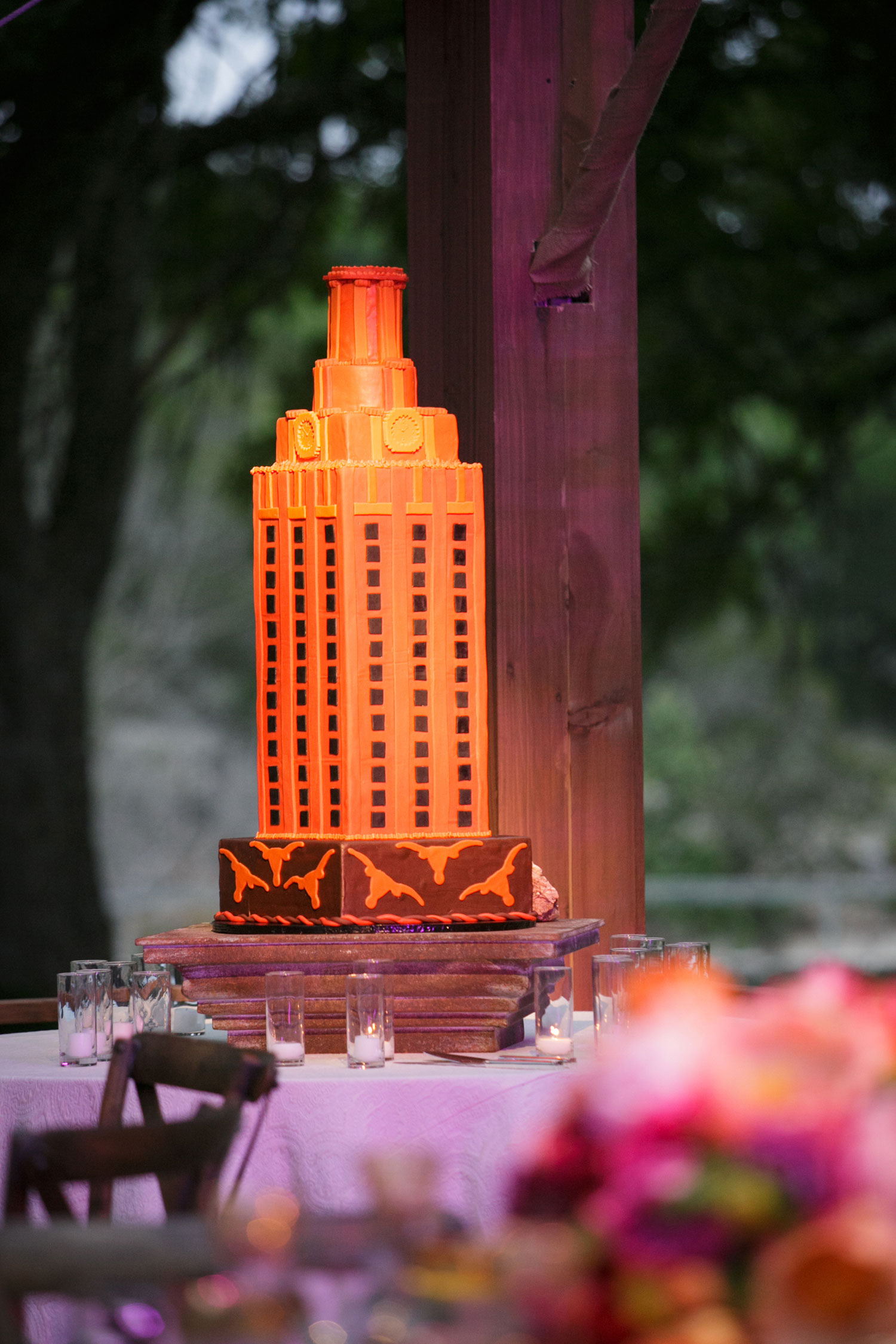 University of Texas wedding cake groom's cake alma mater texas wedding