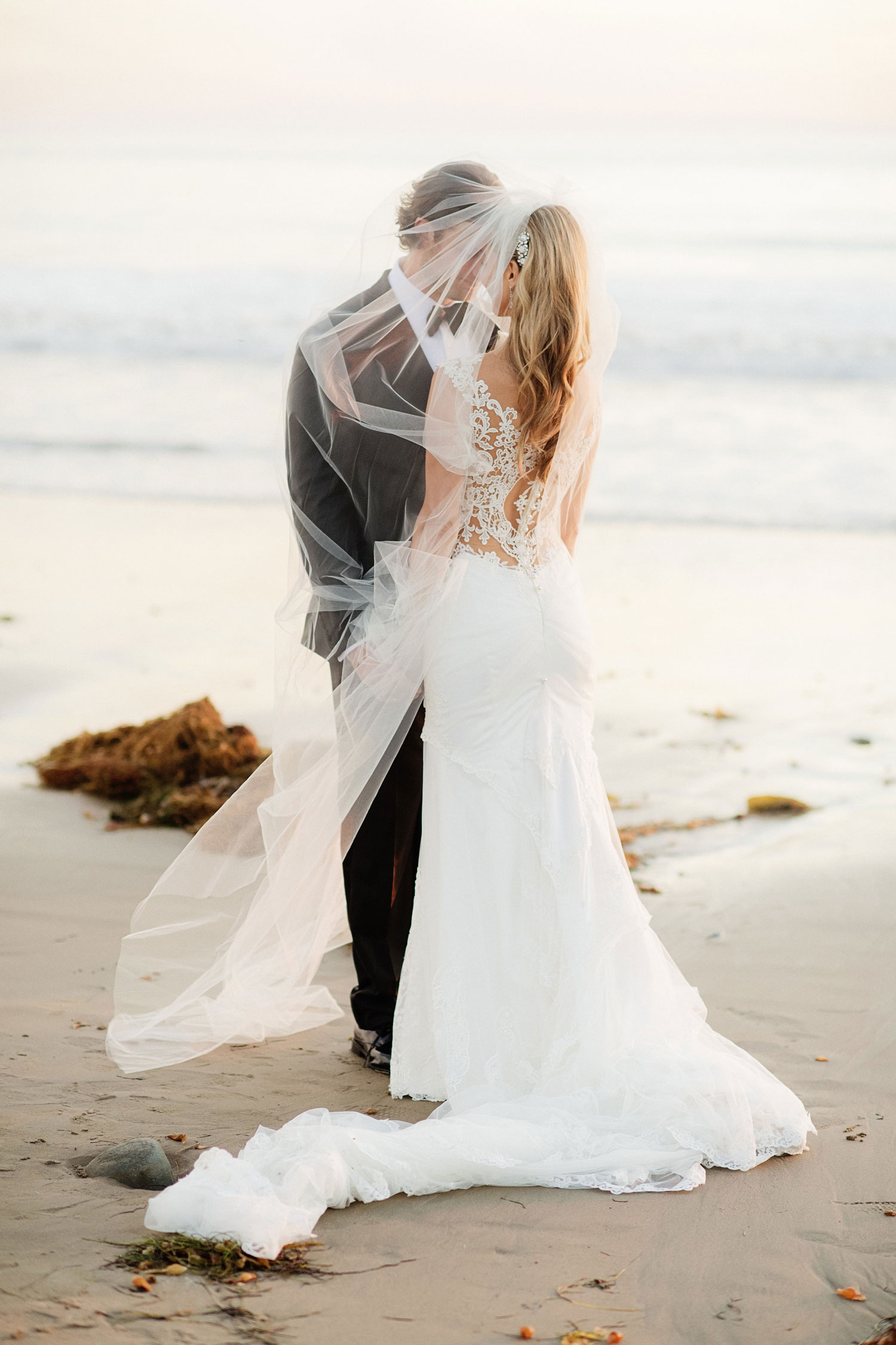 Real bride in Galia Lahav wedding dress Amy Crawford and Gerrit Cole lace low back ruched