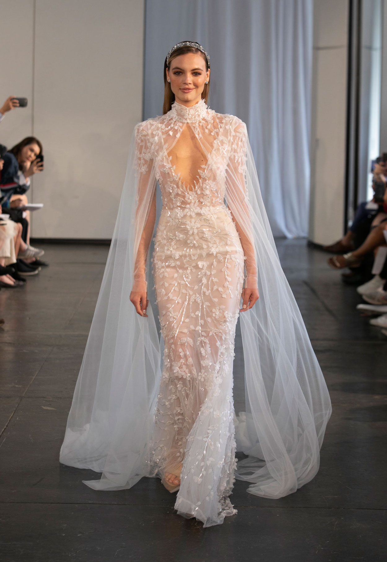 Halloween-inspired wedding dress with cape berta fall 2019