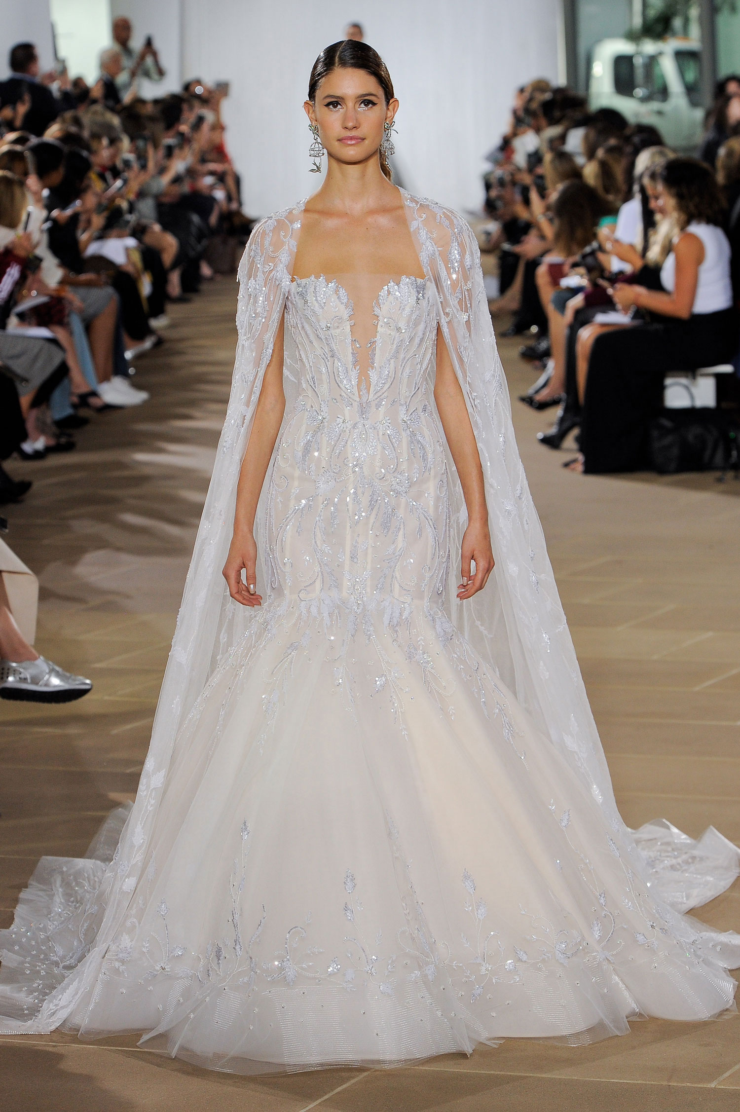 Halloween-inspired wedding dress with cape ines di santo fall 2019