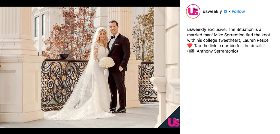 Mike 'The Situation' Sorrentino Marries His College Sweetheart Lauren Pesce, the situation prison