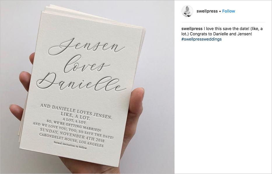 danielle fishel and jensen karp wedding save the date