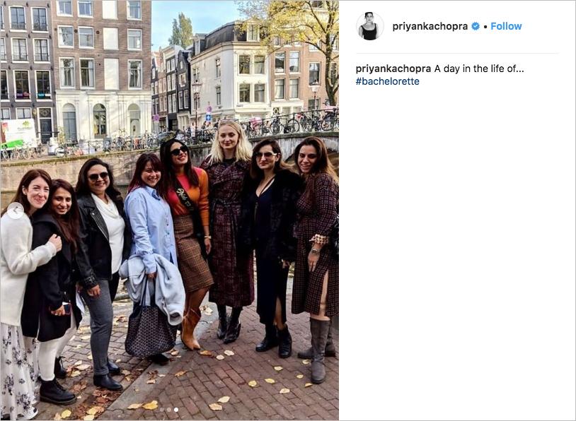 Priyanka Chopra bachelorette party in Amsterdam, Sophie Turner, Nick Jonas wedding