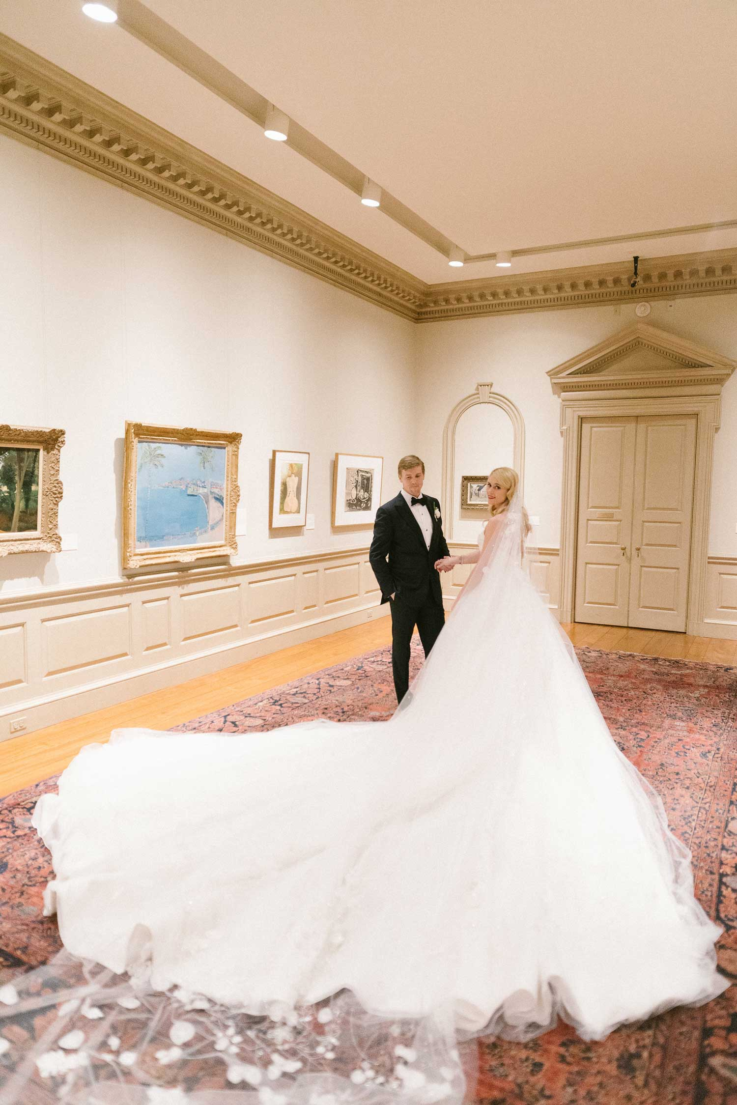 Wedding portrait museum the dallas museum of art
