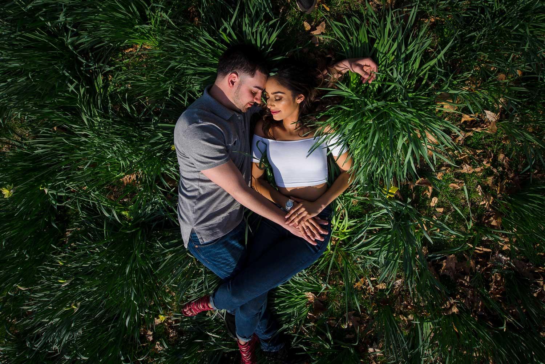 New York engagement photo shoot in grass lyndhurst mansion engagement photos