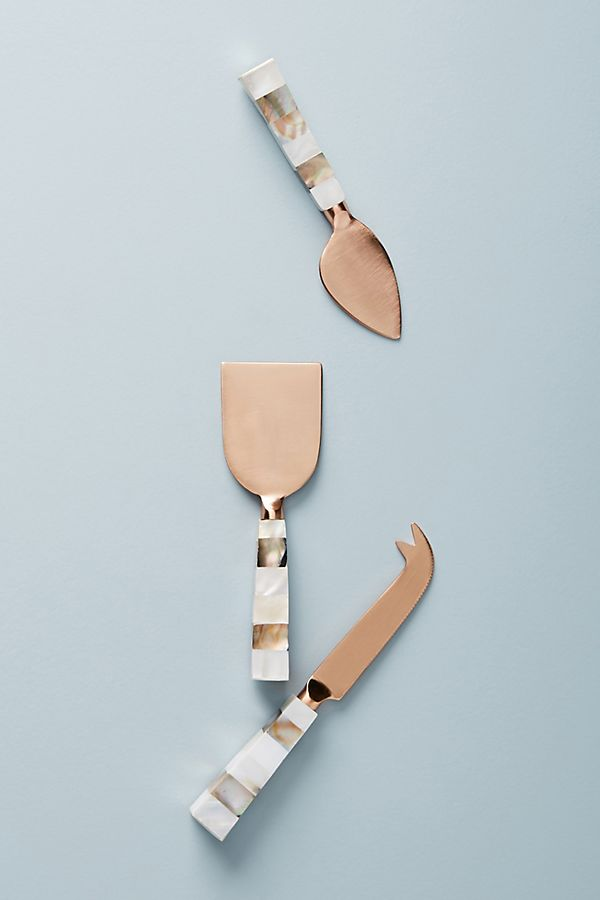 Copper sandside cheese knives anthropologie cheese board ideas