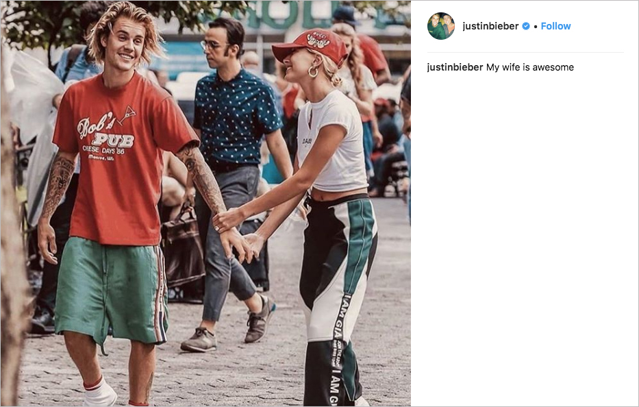 justin bieber hailey baldwin married, justin bieber wife
