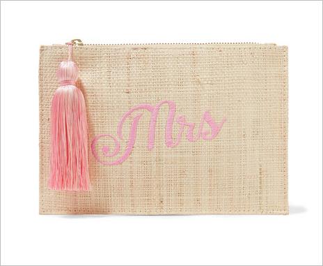 Kayu mrs embroidered woven straw clutch honeymoon destination clutch ideas