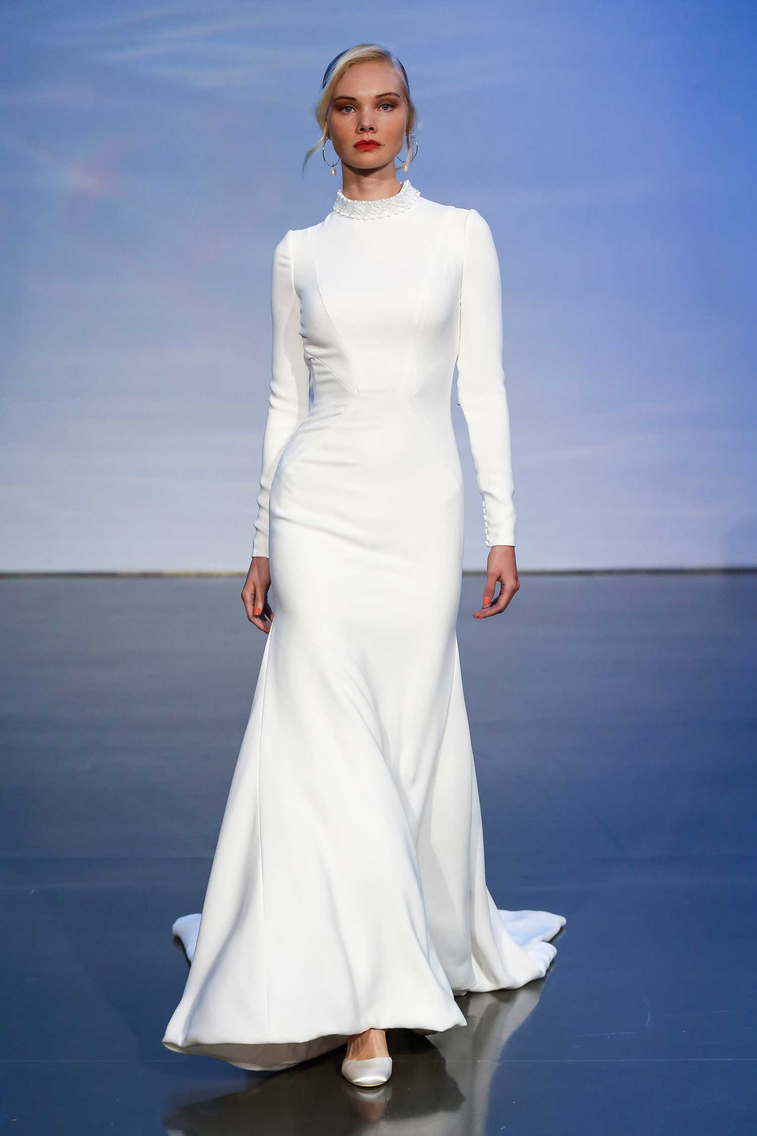 long sleeve wedding dress zurich by justin alexander bridal gown