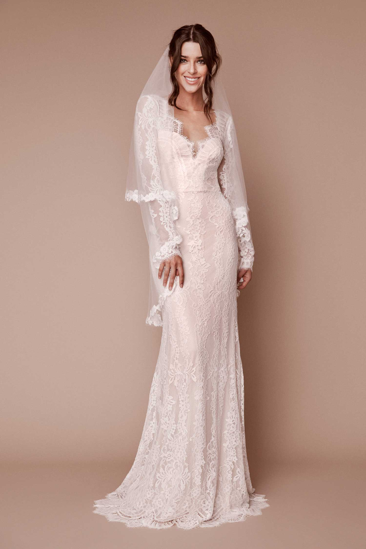 long sleeve wedding dress tadashi shoji long sleeve bridal gown