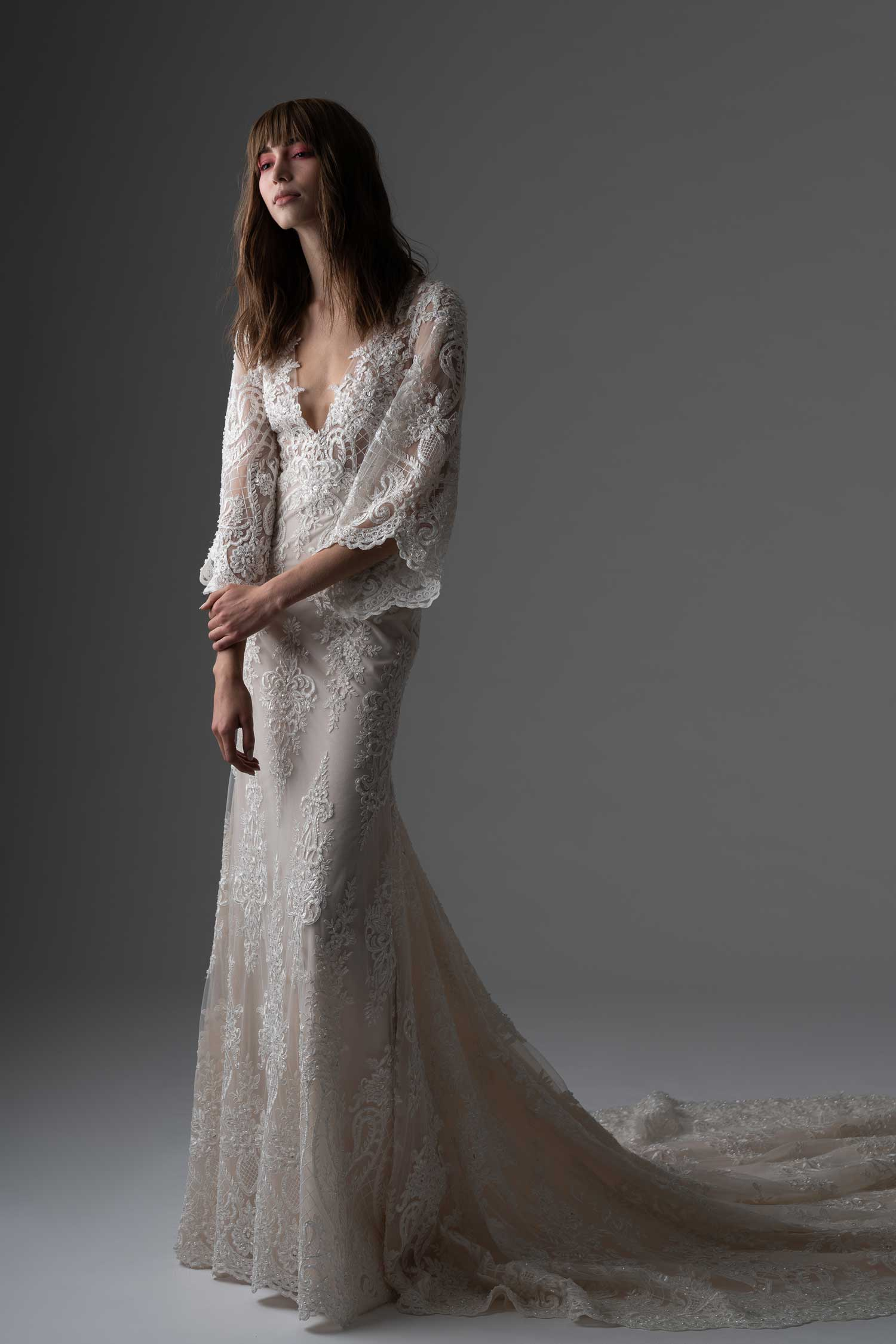 Long sleeve wedding dress rivini by rita vinieris