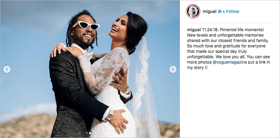 Miguel & Nazanin Mandi wedding, monique lhuillier dress, hummingbird nest ranch, miguel white sunglasses