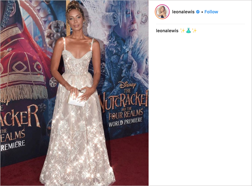 leona lewis wedding dress prediction, leona lewis michael cinco dress, leona lewis the nutcracker premiere