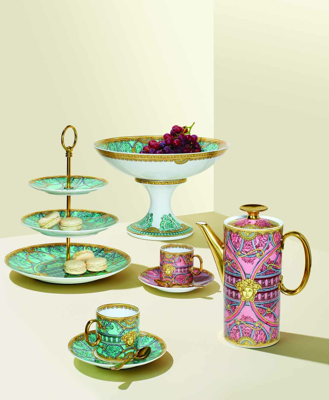 gearys luxury entertainming dinnerware, Versace La Scala Del Palazzo Collection