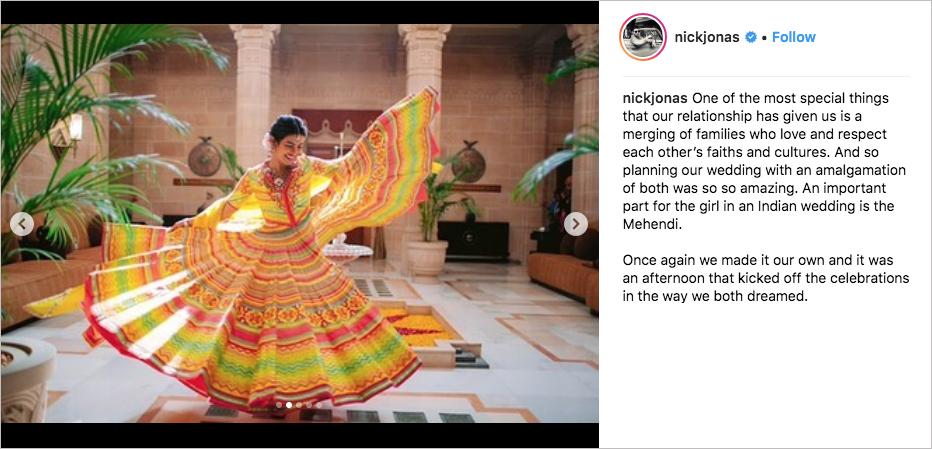 priyanka chopra wedding dress, priyanka chopra mehendi colorful dress