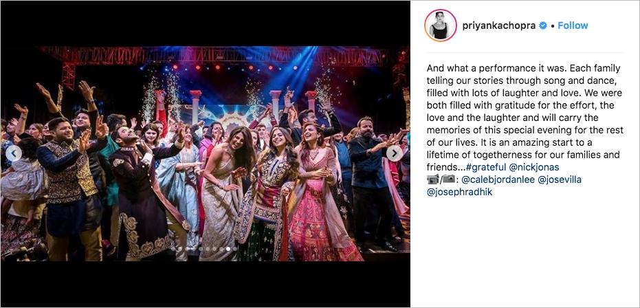 nick jonas & priyanka chopra wedding sangeet celebration