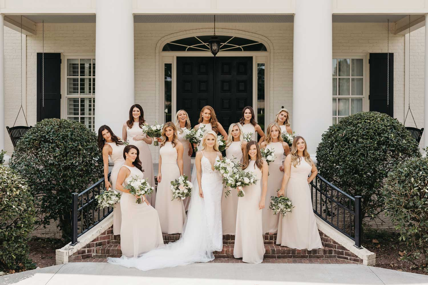 inside weddings winter 2019 issue preview pretty bride and bridesmaids savvy shields miss america