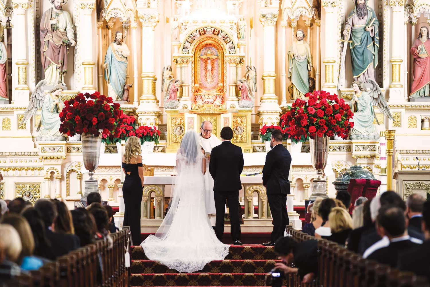 inside weddings winter 2019 issue preview traditional catholic church ceremony winter