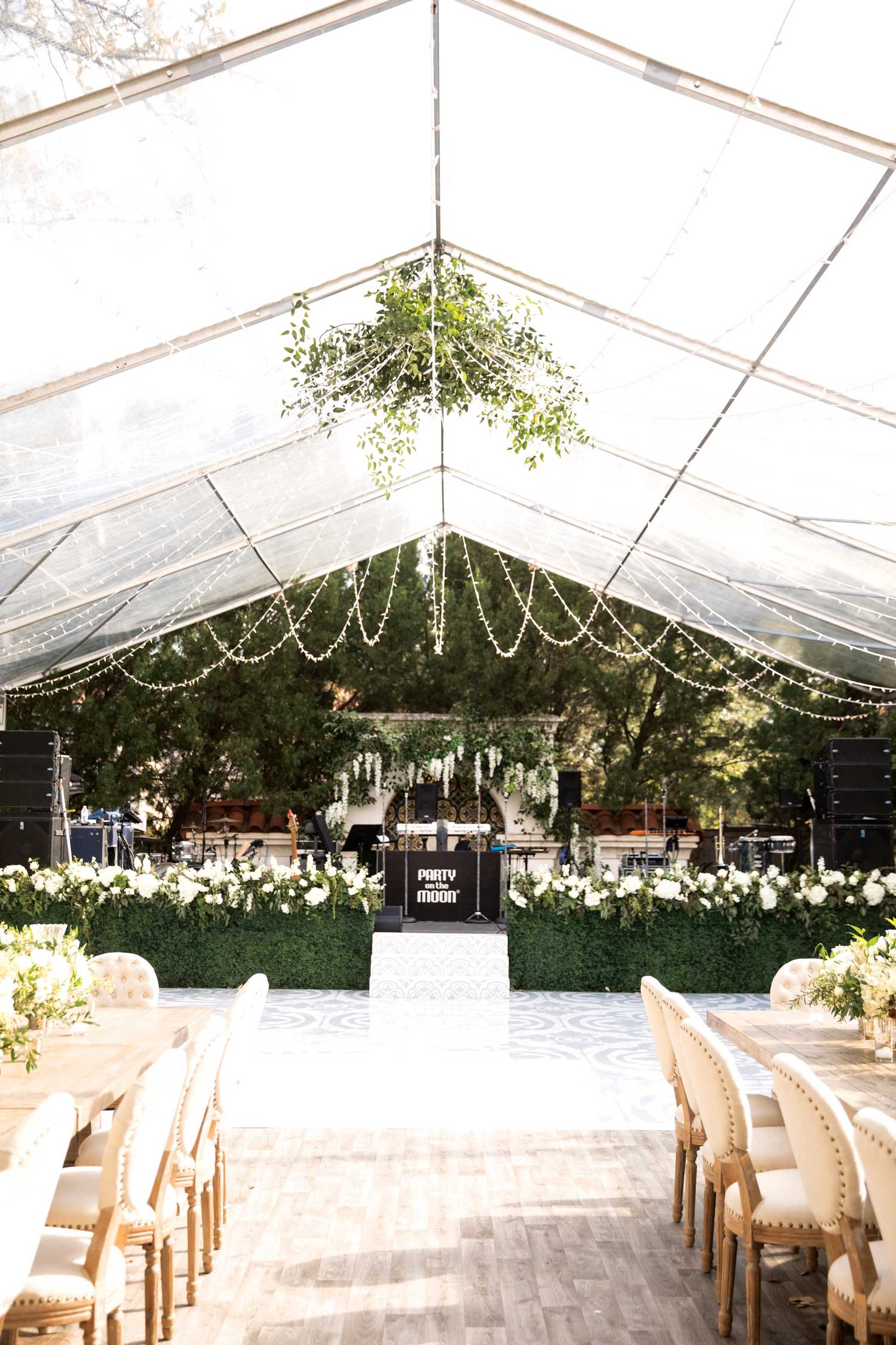 inside weddings winter 2019 issue preview tented at home wedding reception dance floor