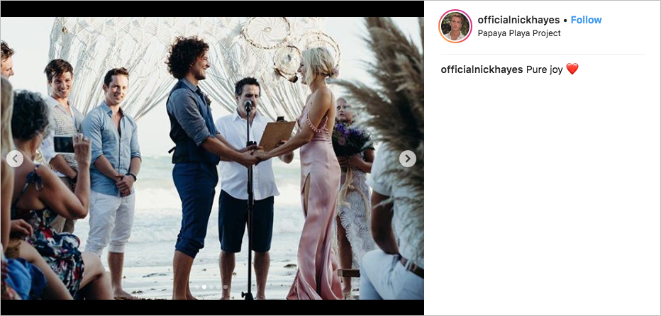 malin akerman & jack donnelly wedding officiated by con o'neill