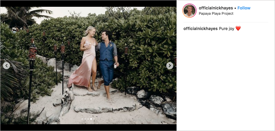 malin akerman & jack donnelly wedding couple photo