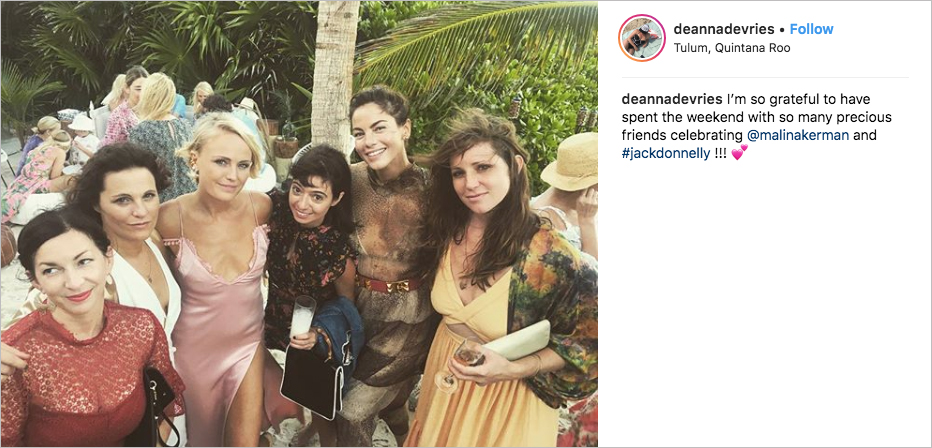 malin akerman wedding, michelle monaghan, kate micucci