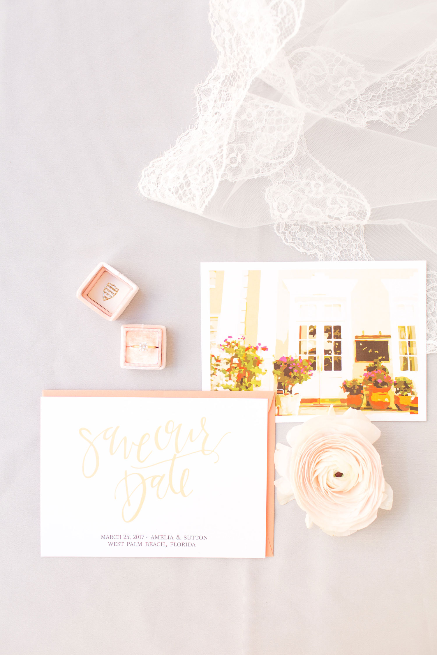 2019 pantone color of the year living coral wedding ideas save the date invitation suite