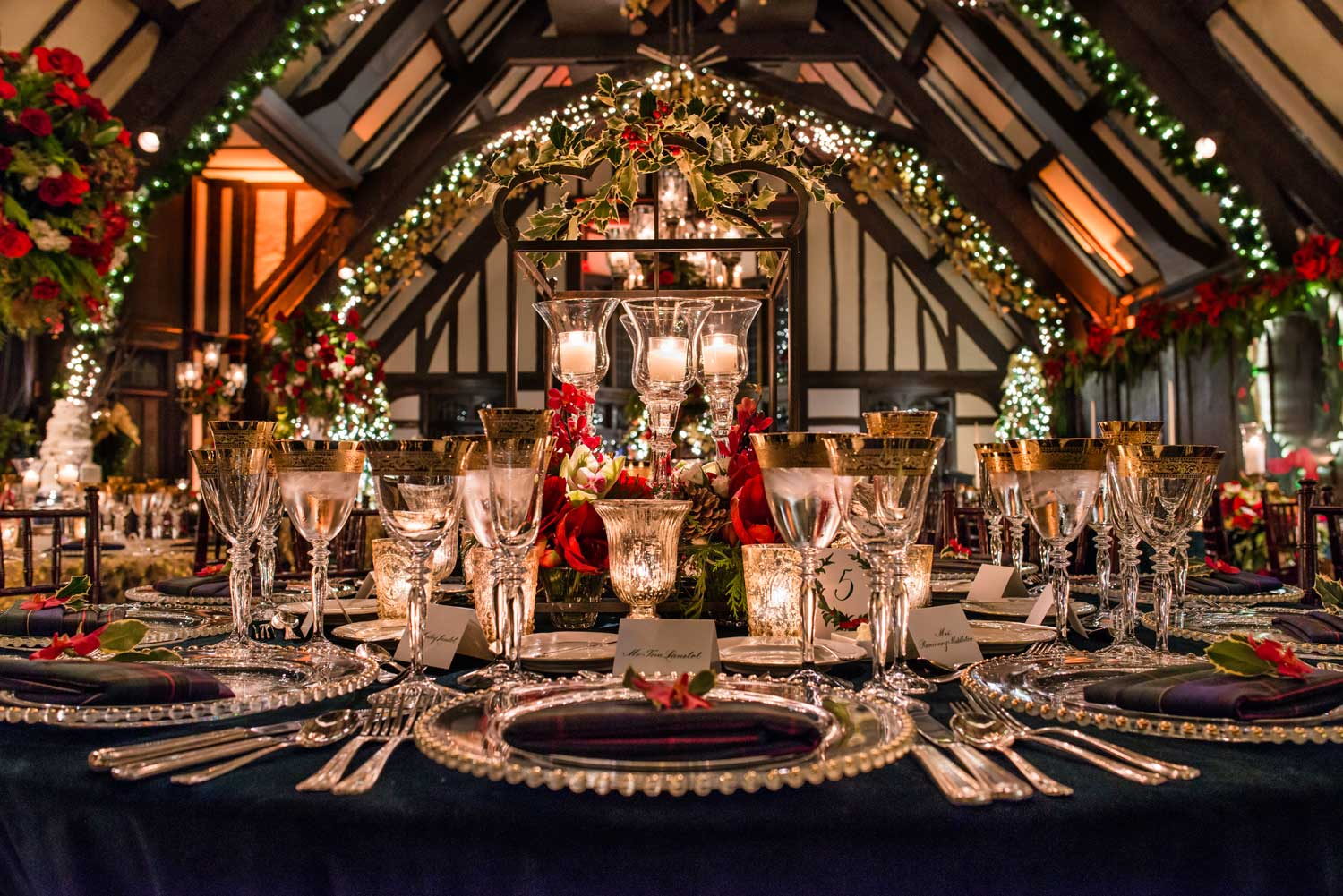 Wedding reception with holiday christmas theme holiday entertaining and decorating tips