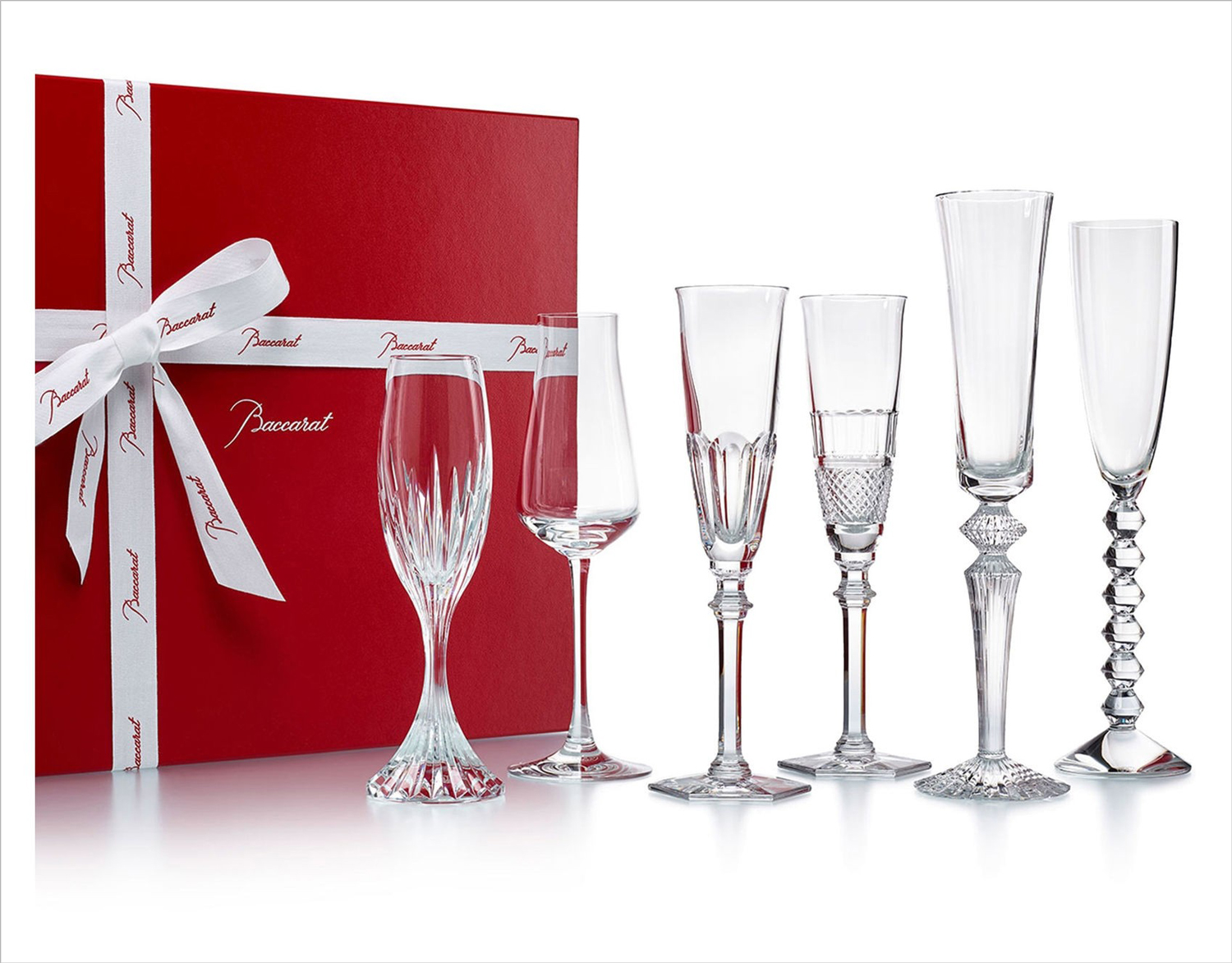 baccarat bubbles in a box champagne flute holiday gift set
