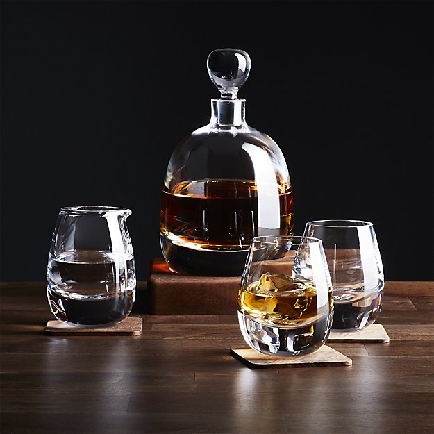 Islay whiskey decanter and glass set holiday gift ideas