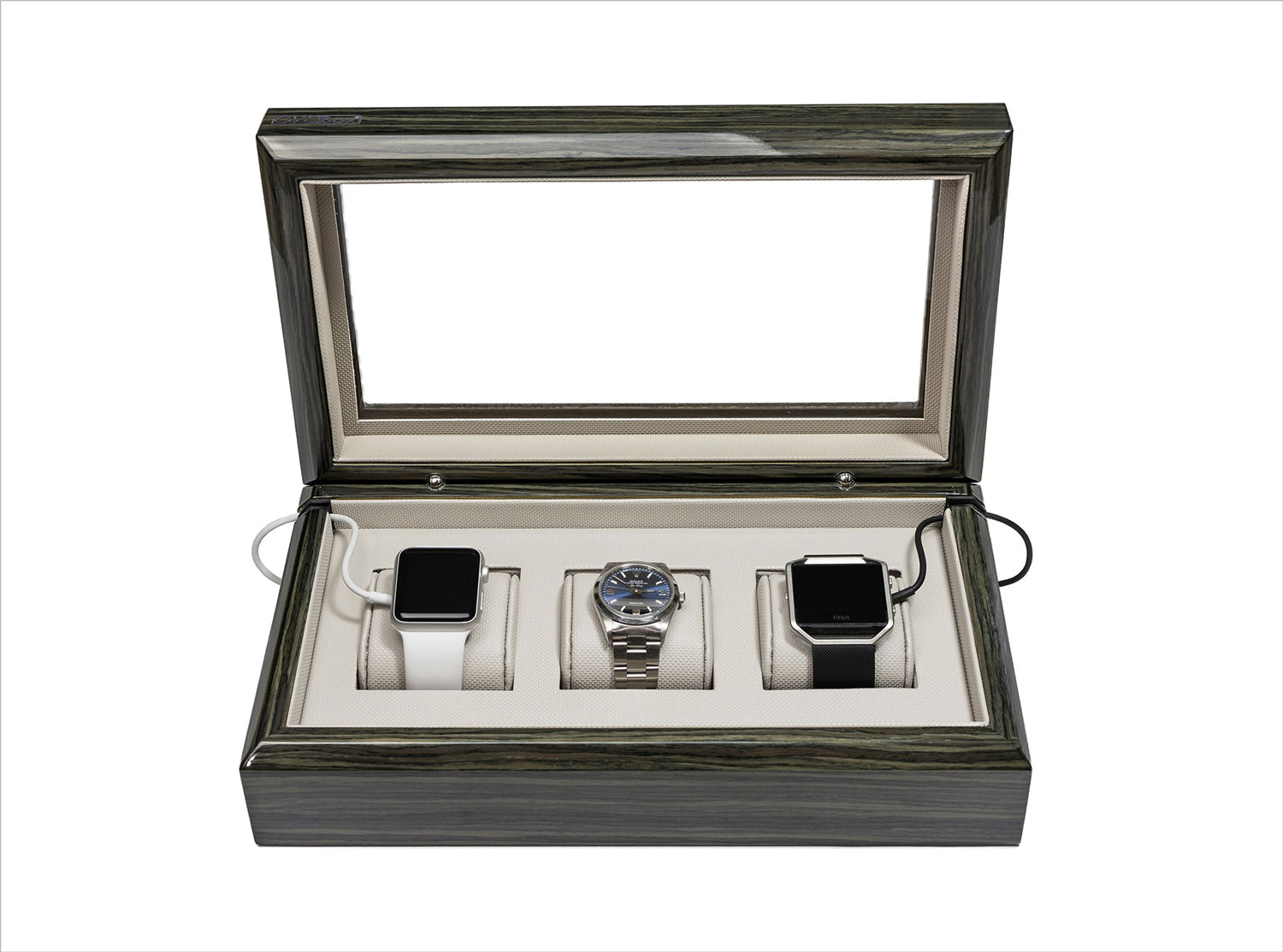 Zebra wood watch box from gearys oyobox holiday gift ideas for him