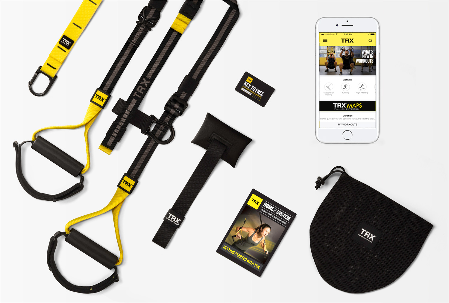 TRX home 2 system training app exercise equipment