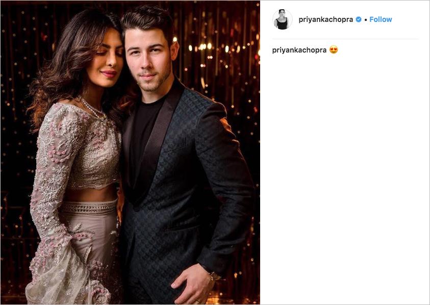 priyanka chopra & nick jonas third wedding reception