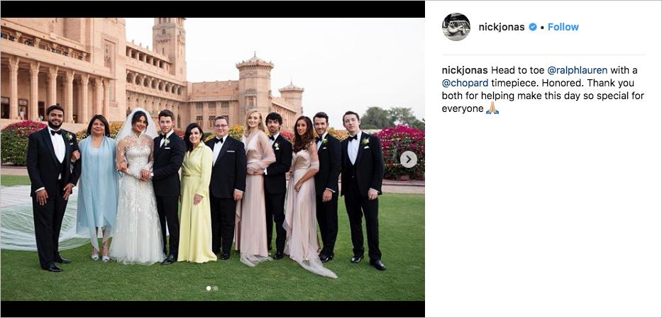 Nick Jonas and Priyanka Chopra wedding with parents joe jonas sophie turner kevin and danielle jonas franklin jonas