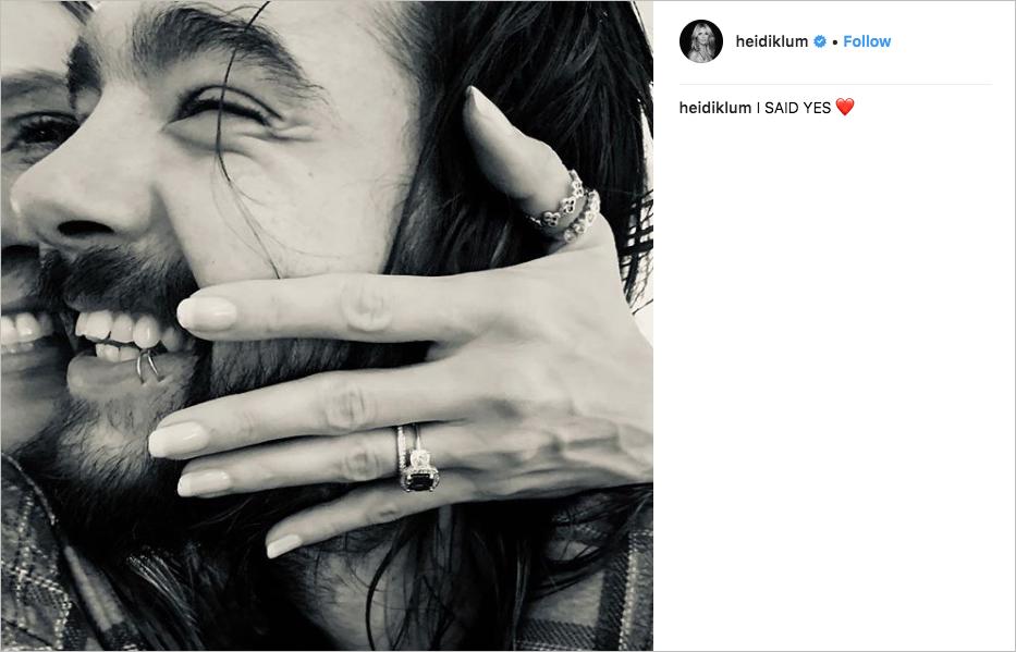 heidi klum engaged to tom kaulitz of tokio hotel, alternative engagement ring
