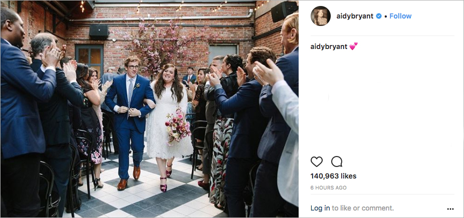 aidy bryant from snl wedding to writer conner o'malley, best celebrity weddings of 2018