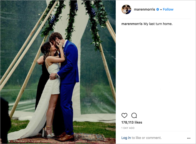 maren morris & ryan hurd wedding, best celebrity weddings of 2018