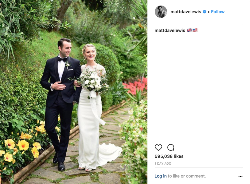 neville longbottom matthew lewis & angela jones wedding, celebrity weddings of 2018