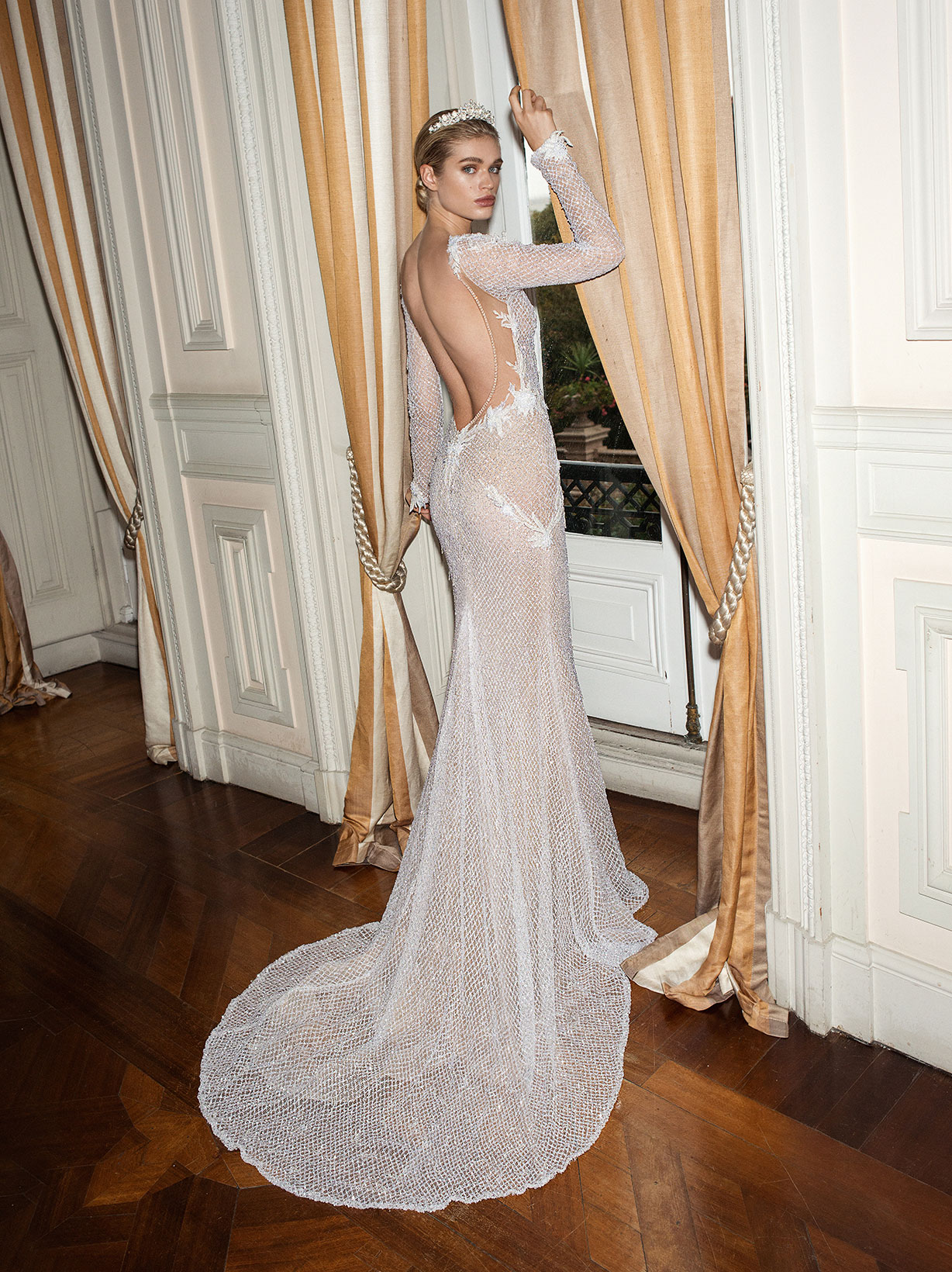 Galia Lahav alegria collection estelle wedding dress beaded flower accents low back