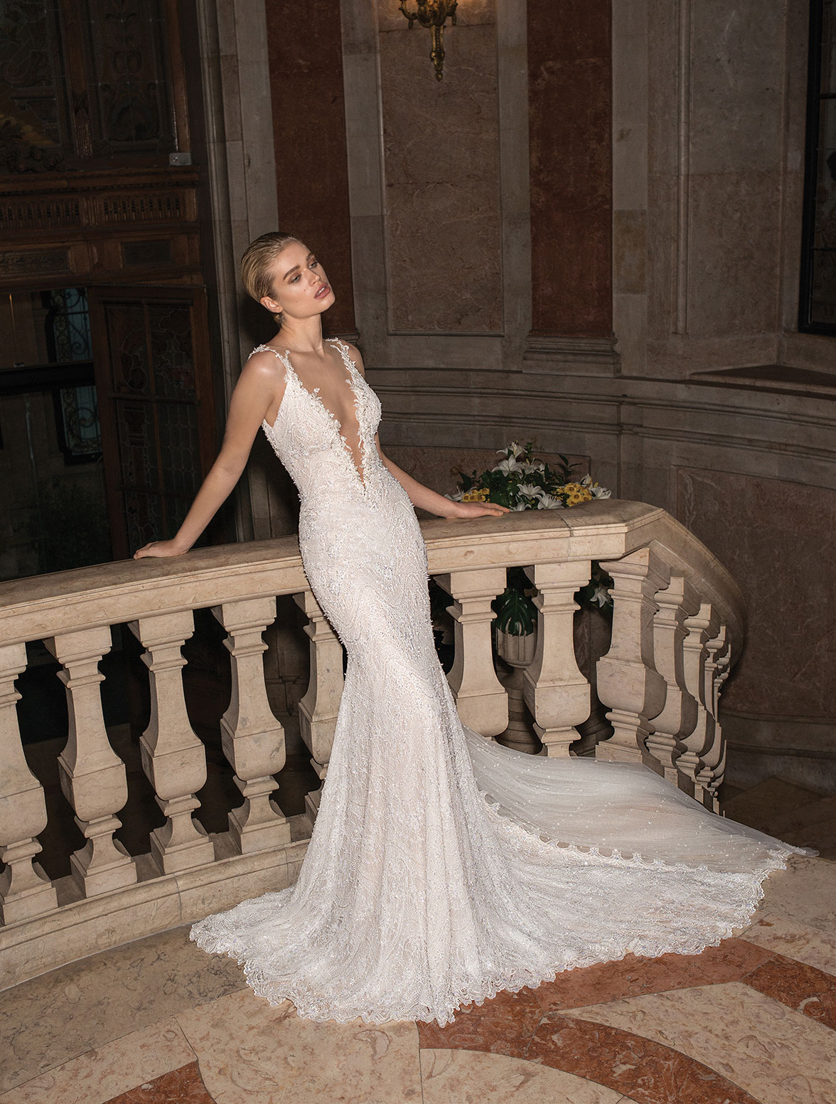 Galia Lahav alegria collection Amani mermaid wedding dress v neck low back straps
