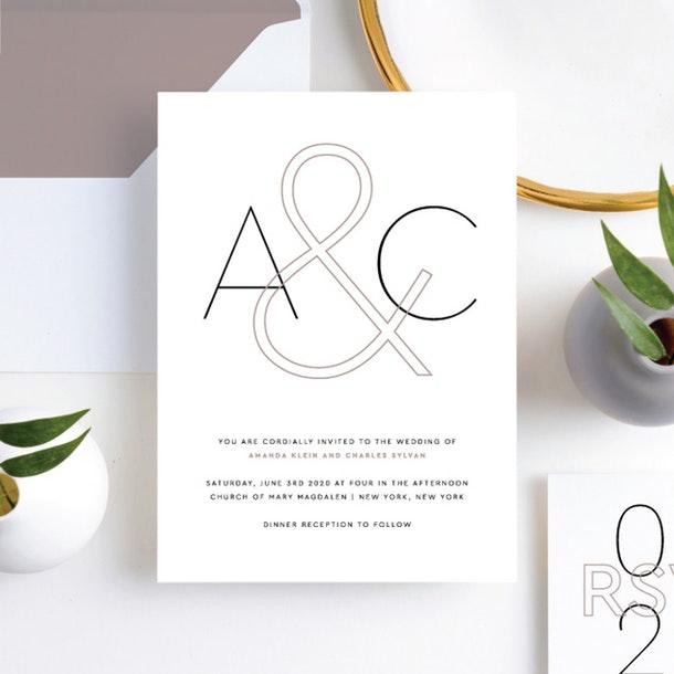 Paper Culture wedding invitation wordplay wedding modern invitation style