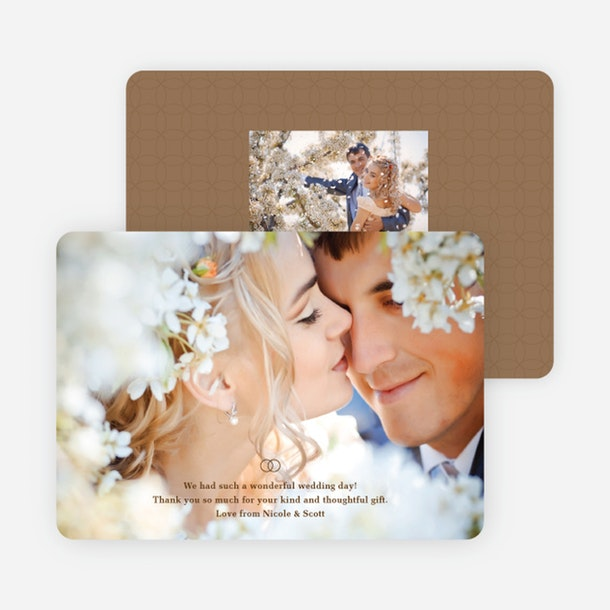 paper culture eco friendly wedding thank you card intertwined