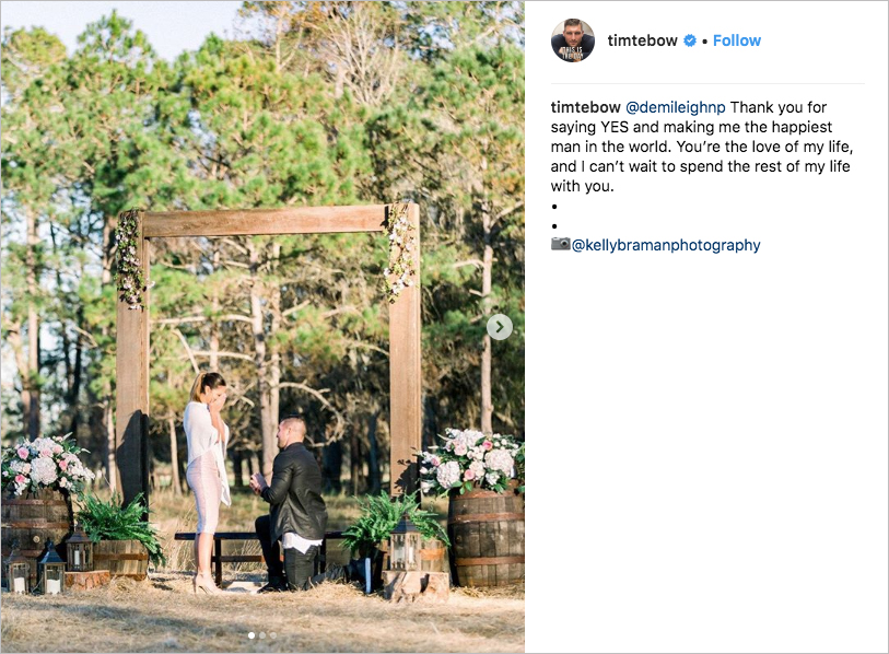 Tim Tebow engaged to miss universe 2017 Demi-Leigh Nel-Peters miss south africa