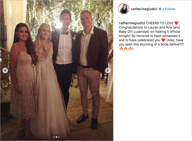 Arie Luyendyk Jr. and Lauren Burnham bachelor wedding in maui, hayley paige wedding dress, sean lowe and catherine giudici