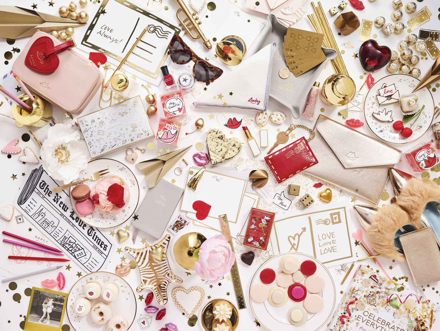 Darcy Miller celebrate love bloomingdale's pop up shop carousel valentine's day gift ideas