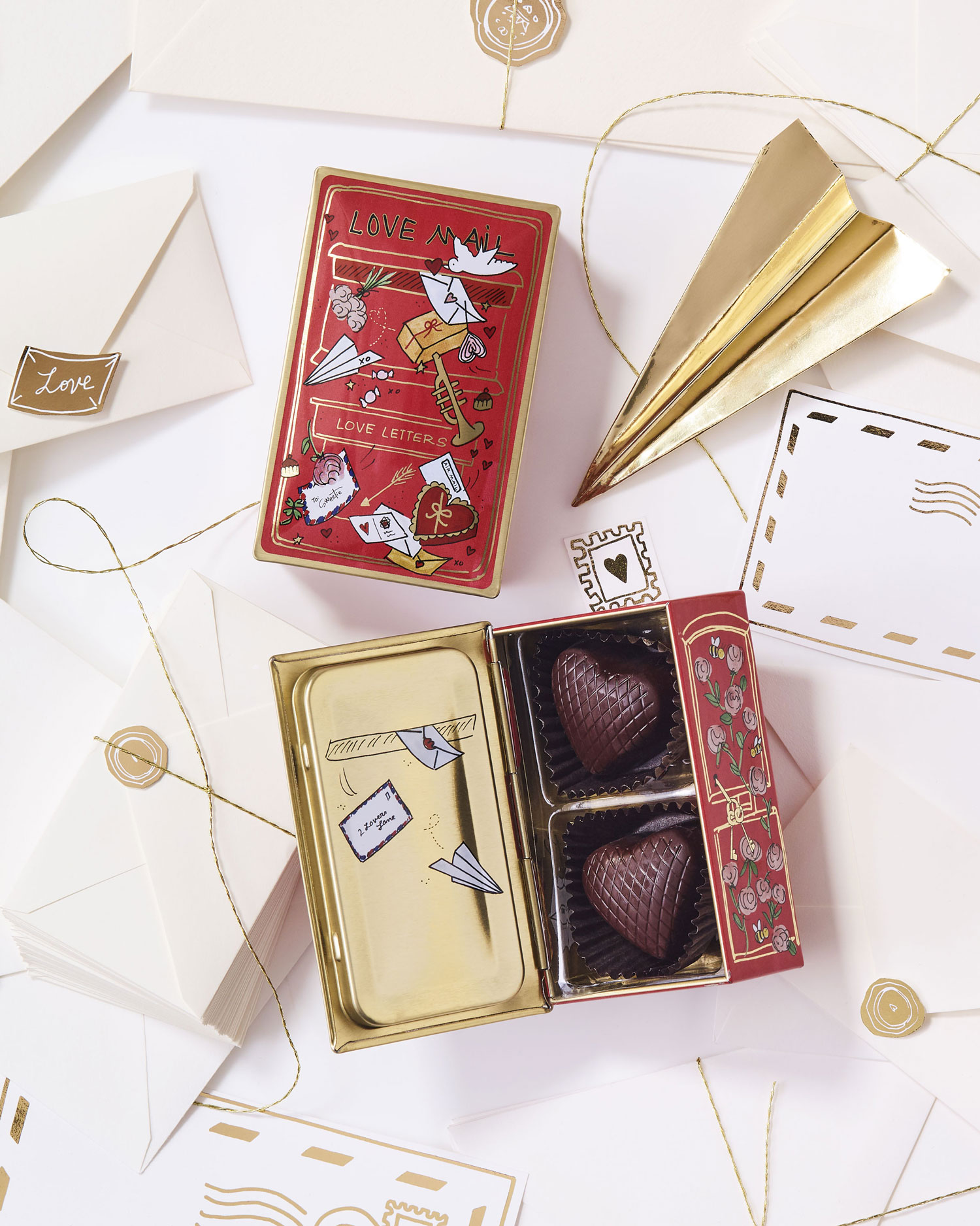darcy miller louis sherry special delivery celebrate love two piece chocolate tin valentine's day gift ideas
